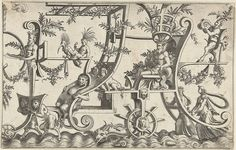 Fantasy ornament designs (1550s) by Cornelis Bos