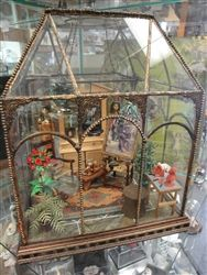 Mini conservatory from Dollhouse Junction Fairy Houses, Doll Houses, Glass Conservatory, Mini Greenhouse, Tiny World, Miniature Fairy Gardens, Glass House, Greenhouses, Garden Projects