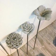 Concrete flowers? How are these made?