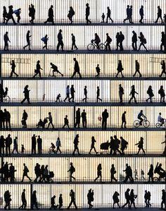 Streetscene Silhouettes Barcelona by Geoff Harrison on 500px