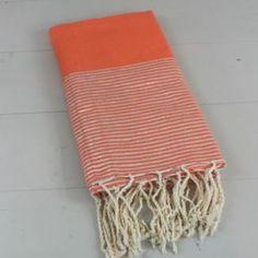 Fouta de Plage Orange Paillette lurex