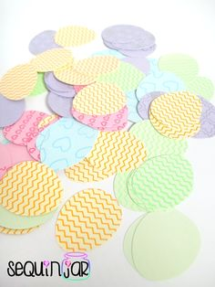 Easter egg pattern table party decoration scrapbook craft card making confetti