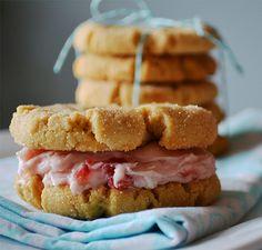 peanut butter and jam sandwich cookies