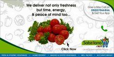 Buy Fresh Vegetables and Fruits Online at Sabzilana.com #Fresh #Vegetables #Fruits #Nagpur