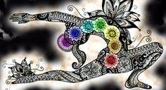 """Chakra is a Sanskrit word meaning """"spinning wheel of… Arte Chakra, Chakra Art, Chakra Healing, Chakra Painting, Chakra Mantra, 2nd Chakra, Chakra Symbols, Pranayama, Sanskrit"""