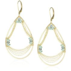 Dana Kellin Dramatic Apatite Swag 14K Gold-filled Chain Earrings - designer shoes, handbags, jewelry, watches, and fashion accessories | endless.com