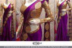 Purple Nylon Silk bollywood sarees online at indian dresses ,Indian Dresses - 1