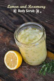 Make Life Lovely: DIY Lemon and Rosemary Body Scrub