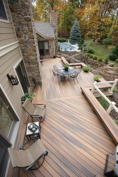 Landscaping Around Deck, Backyard Landscaping, Backyard Decks, Pallet Patio Decks, Backyard Plan, Backyard Patio Designs, Low Deck Designs, Pergola, Deck Steps