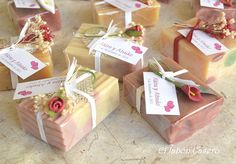 home made soap, wedding favours (Spain)