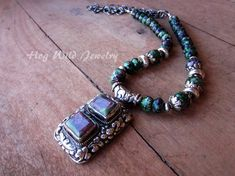 Handcrafted Artisan Ruby Zoisite Sterling Silver by hogwildjewelry
