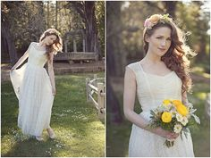 Ankle length outdoor/destination wedding dress by MermaidBridal, $214.00