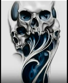 Our Website is the greatest collection of tattoos designs and artists. Find Inspirations for your next Skull Tattoo. Search for more Tattoos. Evil Skull Tattoo, Skull Rose Tattoos, Skull Sleeve Tattoos, Skull Tattoo Design, Tattoo Design Drawings, Skull Design, Body Art Tattoos, Diy Design, Hals Tattoo Mann