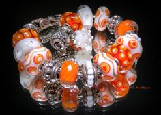 Orange Uniques-from a collector on Trollbeads Gallery Forum!  Join us!! http://trollbeadsgalleryforum.ning.com/