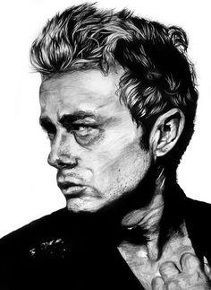 lphartwork:  James DeanA3 Pencil Portrait