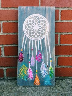 Dream catcher wooden wall sign, rustic sign, wooden sign, wall art, hippie art, wood sign, shabby chic by knackJACK on Etsy https://www.etsy.com/listing/277920852/dream-catcher-wooden-wall-sign-rustic