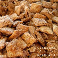 The perfect Cinco de Mayo snack- Cinnamon Churro Chex Mix!  So good!