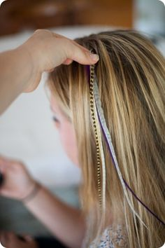 DIY hair feathers.