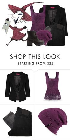 """""""Shock (The Nightmare Before Christmas)"""" by leagelia ❤ liked on Polyvore featuring Boohoo, Religion Clothing, Spacecraft and Charlotte Russe"""
