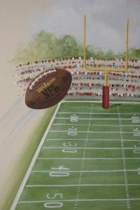 Aerial View Of Football Field Mural Part 81