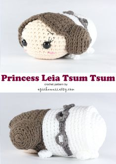 """PATTERN: Princess Leia Tsum Tsum Crochet Amigurumi by epickawaii. I'll never have to buy these from """"the man"""" again!"""