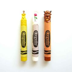 And many are for sale on Etsy . | These Pop Culture Icons Are Carved Entirely Out Of Crayons