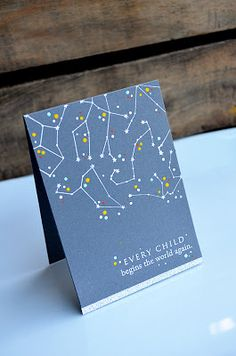 Baby Constellation Card by Jess Witty for Papertrey Ink (April 2013)
