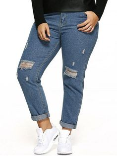 GET $50 NOW | Join RoseGal: Get YOUR $50 NOW!http://m.rosegal.com/plus-size-bottoms/scratch-embellished-zipper-fly-ripped-740451.html?seid=8913027rg740451
