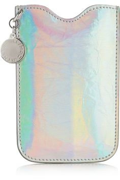www.stellamccartney.com, Stella McCartney | Holographic faux leather iPhone sleeve | NET-A-PORTER.COM