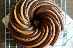 peanut butter bundt cake with peanut butter fudge frosting | bakeat350.blogspot.com