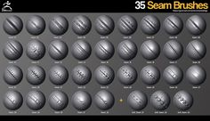 ArtStation - ZBrush - 35 Seam Brushes, jonas ronnegard