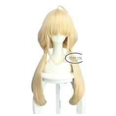 futaba anzu Cosplay Wig pelucas blond long Golden Ponytail Cinderella Wig Fashion cos wigs perruque lady women peruca sobretudo