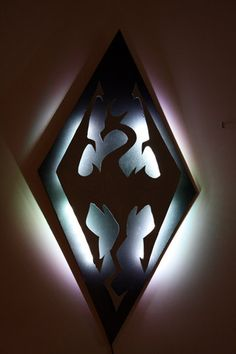 SALE//Skyrim Imperial Symbol Dragon Lighted Wall Decoration                                                                                                                                                                                 More
