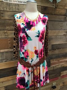 Floral & Leopard Obsessed Dress