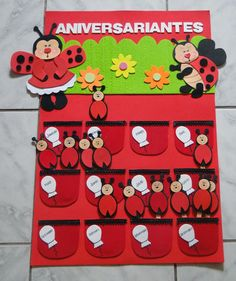 Foam Crafts, Preschool Crafts, Crafts To Make, Crafts For Kids, Birthday Wall, Birthday Board, Space Classroom, Classroom Themes, Lady Bug