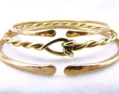 Brass Bangle Set Ethnic Bracelet Set Stacking Brass Bracelets Boho Jewelry Festival Jewelry Made To Order Custom Sizes Trending Jewelry