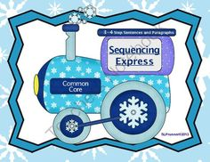 All abord the Sequencing Train!   - 2 levels of language sequencing!  Great activities for multiple ages/grades with printables and velcro-color options..  A GIVEAWAY promotion for Language Sequencing- Winter Theme from SLPrunner on TeachersNotebook.com (ends on 1-22-2014)