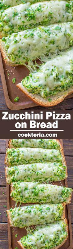 Zucchini Pizza on Bread