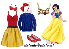 My Snow White outfit. I almost have all the parts.