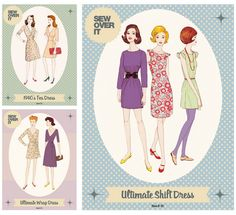 Find out about the fabulous new retro style sewing patterns and kits from Sew Over It