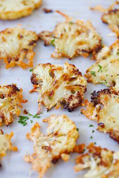Parmesan Roasted Cauliflower - the most delicious cauliflower ever, roasted  with butter, olive oil and Parmesan cheese. SO GOOD you'll want it every day!! from @rasamalaysia