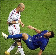 Zidine Zidane famouse headbutt