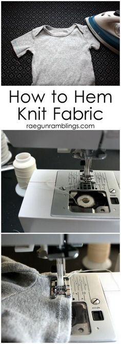 Sewing Techniques Couture The Secret to Hemming Knit Fabric (it's all in what type of thread you use) - Rae Gun Ramblings - How to Hem Knits the trick is all about what thread you use! Techniques Couture, Sewing Techniques, Sewing Hacks, Sewing Crafts, Sewing Tips, Serger Sewing, Sewing Ideas, Sewing Basics, Sewing Lessons
