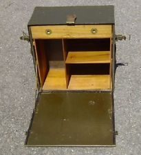 Vintage WWII WW2 US Army Military Officers Clerks Portable Field Desk