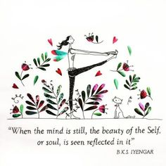 With Iyengar Yoga, you can learn how to center yourself and focus on what's most important in your life. Yoga Meditation, Yoga Zen, Qigong, Bks Iyengar, Yoga Illustration, Yoga For Kids, Yoga Quotes, Yoga Sequences, Yoga Inspiration