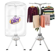 #washers If you are stuck with loads of laundry and without a #dryer, this Dr. Dry #portable dryer . is for you. Instead of hanging on clotheslines and checking e...
