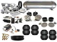 Complete FBSS Airbag Suspension Kit - 64-72 Chevelle & other GM A Body - LEVEL 4 with Accuair Management
