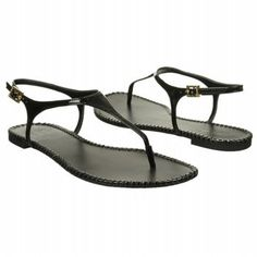 Less is more in the Vince Camuto Adrelin Sandal. Patent upper in a casual flat thong sandal style with a rolled toe post, Adjustable heel sling strap with a buckle closure, Smooth lining and footbed,