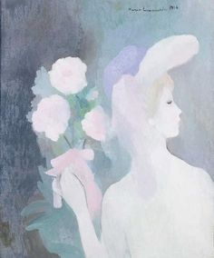 Woman with Bouquet by Marie Laurencin