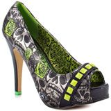 Iron Fist's Multi-Color Muerte Punk Princess Plat - Green for 59.99 direct from heels.com
